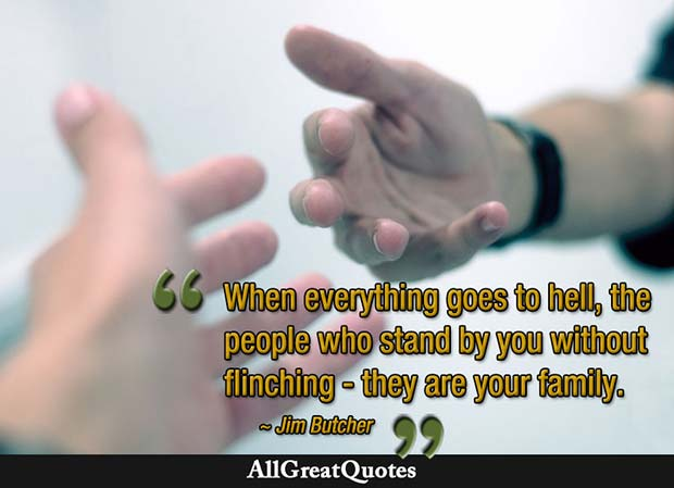 when everything goes to hell family quote