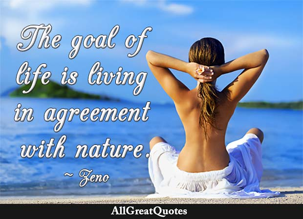 agreement with nature quote zeno