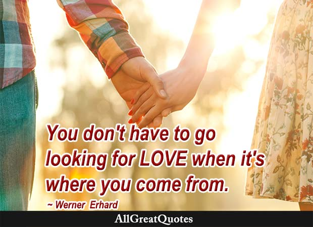 looking for love - werner erhard