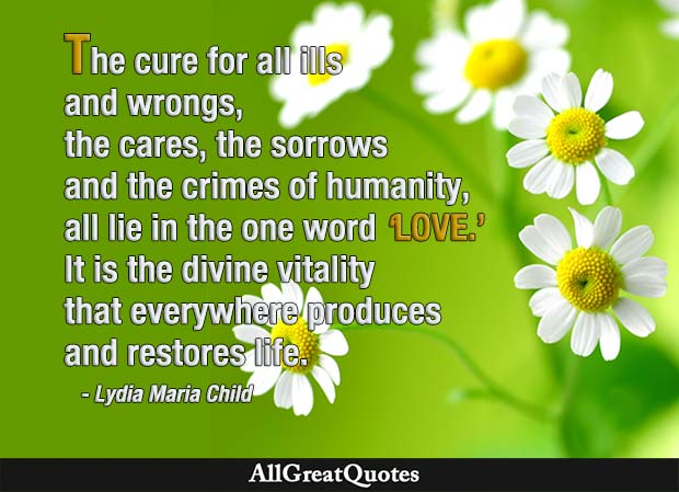 cure for all ills - lydia maria child