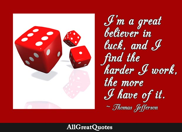 great believer in luck thomas edison