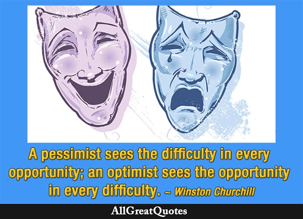 an optimist sees quote winston churchill