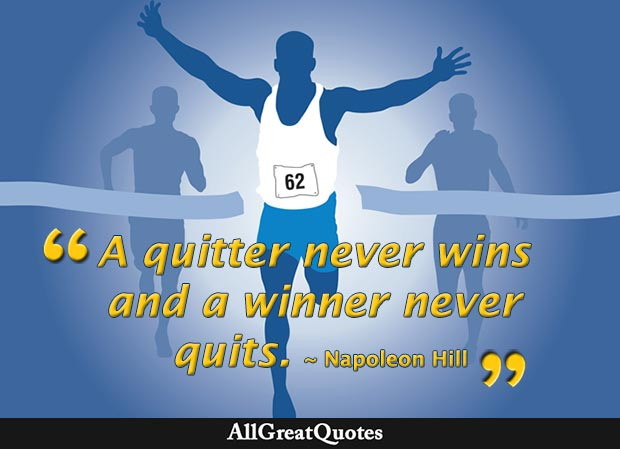 winner never quits napoleon hill