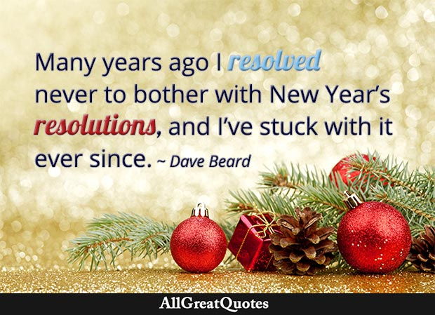 new year's resolutions dave beard