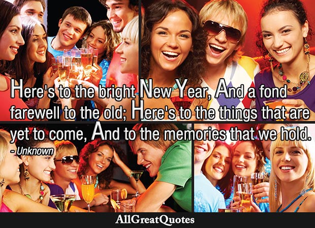here's to the bright new year quote