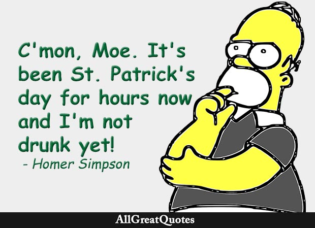 st patrick's day homer simpson