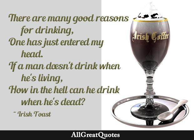 many good reasons for drinking