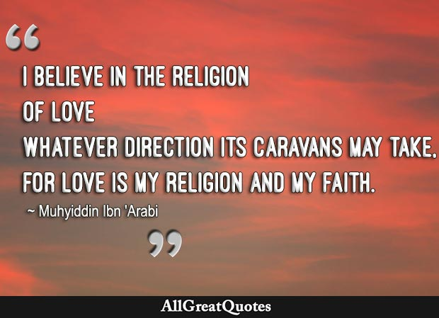 love is my religion quote