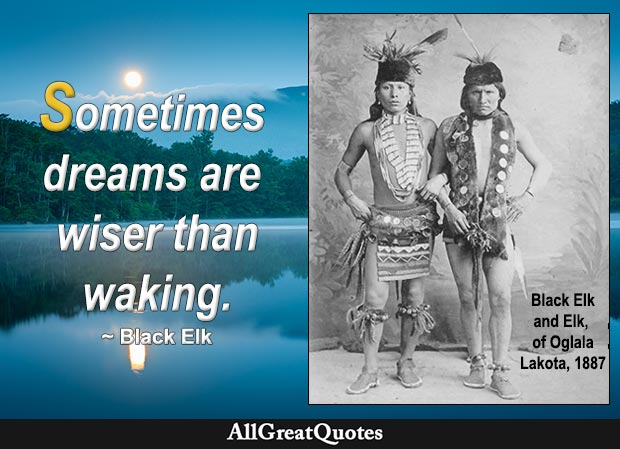Sometimes dreams are wiser than waking. - Black Elk