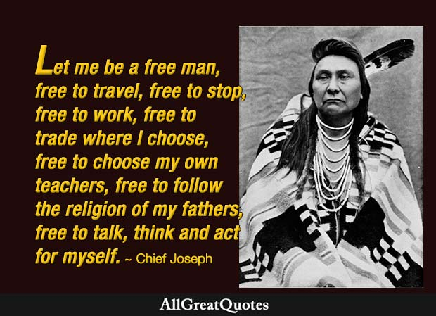 let me be a free man chief joseph