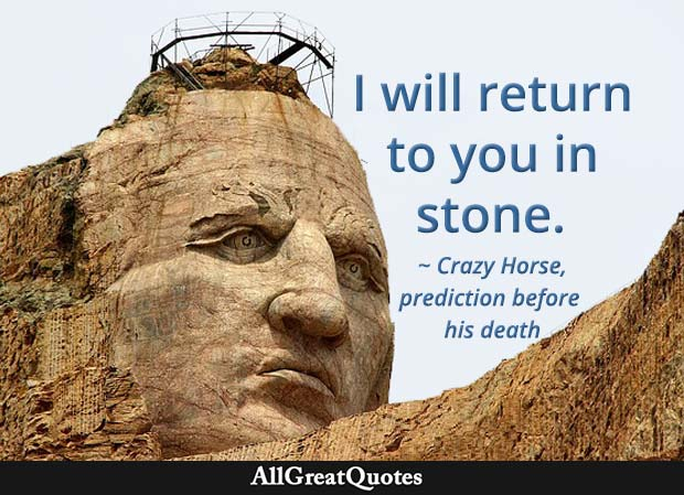 I will return to you in stone - Crazy Horse