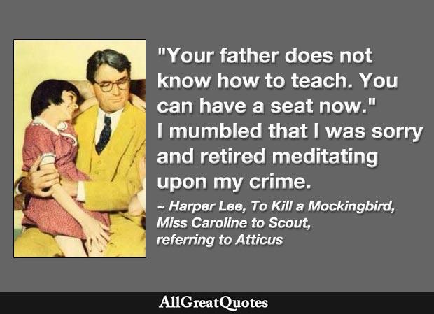 Scout's teacher criticizes Atticus's teaching