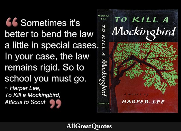 Atticus Finch on bending the law