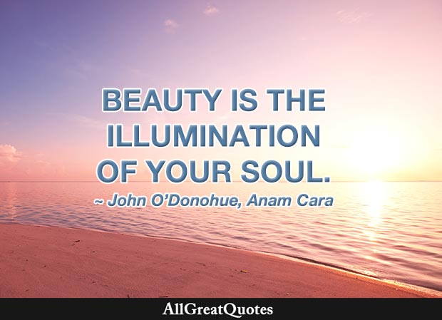 Beauty is the illumination of your soul - John O'Donohue quote