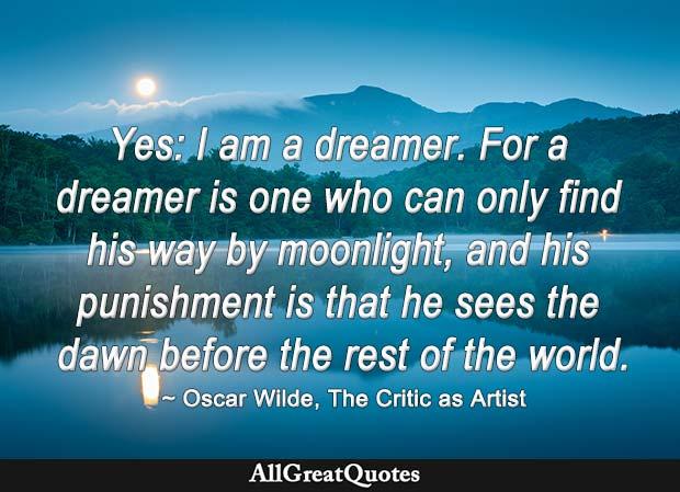 Oscar Wilde dreamer quote