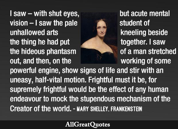 Mary Shelley vision that inspired Frankenstein characters