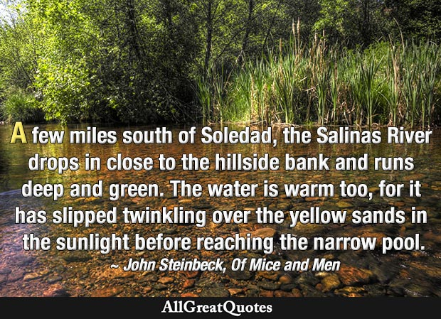 Of Mice and Men quote about Salinas River