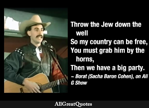 throw the jew down the well song by borat